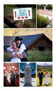 Rustic Wedding at Maryland Creek Ranch. Light pink and blue
