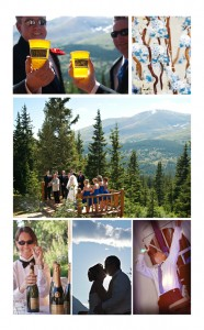 Wedding at Elk Ridge Ranch in Breckenridge. Blue and white color palette.