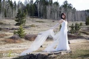 beautiful mountain bride in Colorado