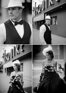 Black & White wedding in Denver