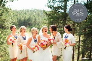 colorado wedding planner, style me pretty, cream and navy, mountain wedding