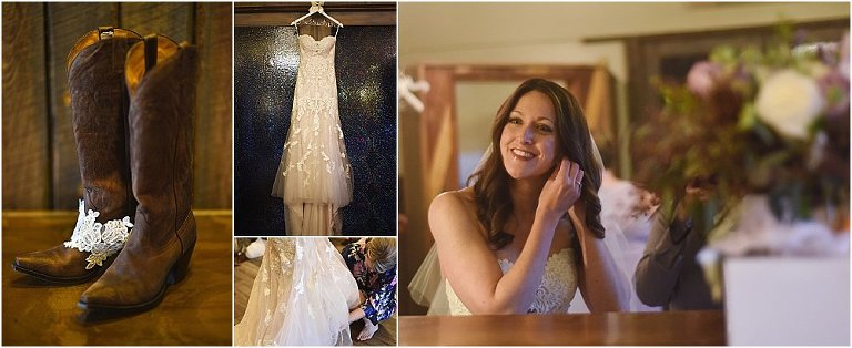 evergreen barn wedding, mountain wedding planner, wedding planning colorado, rustic elegance, getting ready photos, bridal suite, wedding dress