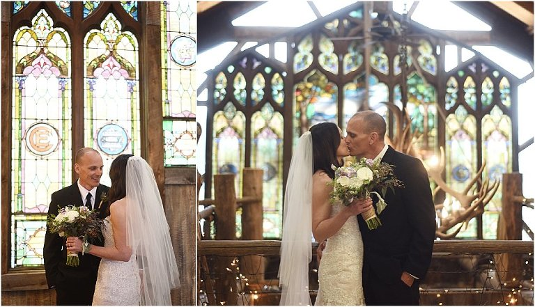first look,evergreen barn wedding, mountain wedding planner, wedding planning colorado, bride and groom, first kiss, veil, wedding gown, church ceremony