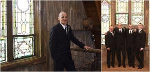 groom portrait, groom and groomsmen, wedding party photos, barn, rustic elegance