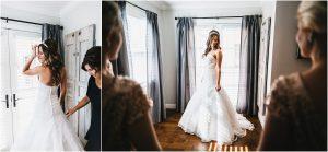 scottsdale wedding planner, bride getting ready, arizona weddings, bride putting on dress