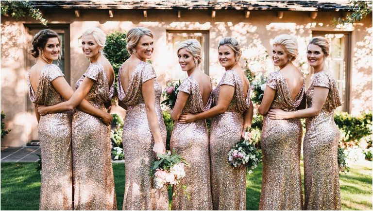 scottsdale wedding planner, bride and bridesmaids portraits, arizona weddings