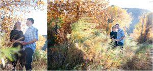 couple in trees, portraits,clear creek history park, golden colorado engagement session, autumn, l elizabeth events, colorado engagement photography, mountain engagement photographer