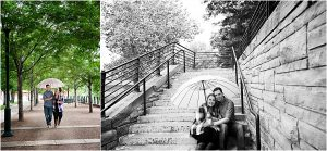 couples portraits,Denver Engagement Session, Commons Park, Millennium Bridge, Colorado Engagement Photographer
