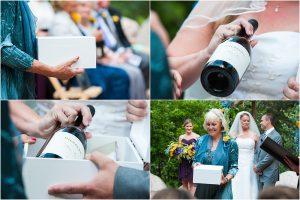 wine box ceremony, outdoor ceremony, traditions,donavan pavilion, mountain wedding photographer, vail wedding photography, colorado weddings
