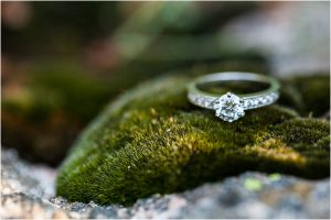 ring photos, engagement ring on moss, details,donavan pavilion, mountain wedding photographer, vail wedding photography, colorado weddings