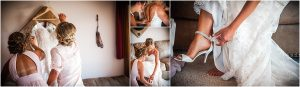 getting ready details, wedding dress, bridal shoes, anklet, putting on the dress, bridal gown, hotel room, steamboat springs, colorado wedding photographer, mountain wedding photography