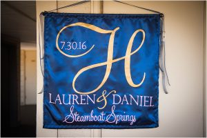 wedding day details, steamboat springs, signage, mountain wedding photographer, colorado wedding photography