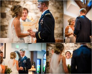 ring exchange, ceremony details,church ceremony, steamboat springs, mountain wedding, colorado wedding photographer