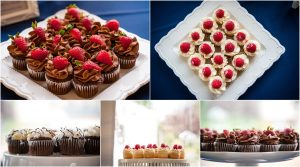 reception details, dessert display, mini cupcakes, white and navy, mountains, tented reception, steamboat springs resort, colorado wedding photography, mountain wedding photographer