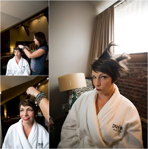 bride, hair and makeup, colorado wedding coordinator, colorado wedding photographer, getting ready, crawford hotel, union station