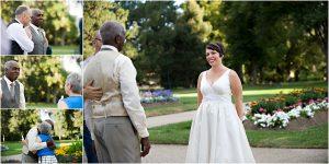 first look,colorado wedding coordinator, colorado wedding photographer, cheesman park denver