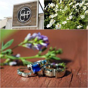 detail photos, ring shot, flower decor, golden city brewery, colorado wedding photographer