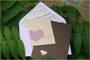 invitation suite, purple and cream, hearts, colorado wedding planning and design, detail photos, wedding photographer