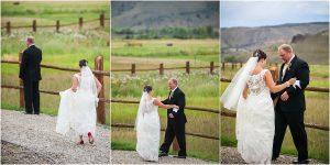 first look, bride and groom,C Lazy U Ranch, Granby, Colorado, Rustic Ranch Wedding, Colorado Wedding Planner, Mountain Wedding Photographer