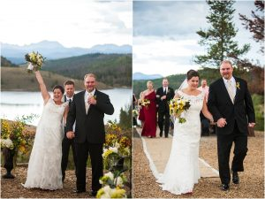 bride and groom become husband and wife, recessional, outdoor mountaintop ceremony, woodsie,C Lazy U Ranch, Granby, Colorado, Rustic Ranch Wedding, Colorado Wedding Planner, Mountain Wedding Photographer
