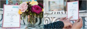 modern tortilla food truck, floral decor, menu,hotel valley ho, scottsdale, arizona, styled shoot, engagement session, food trucks, wedding weekend, pool party, phoenix wedding planner, event design