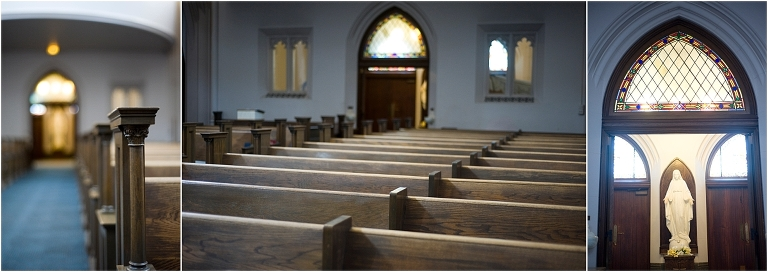 church ceremony, catholic church, colorado wedding photographer, empty pews