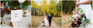 fall wedding, couple walking in the woods, jewel tone wedding, Dao House