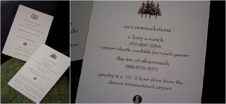 invitation suite, signage,C Lazy U Ranch Wedding, Colorado Wedding Photography, Mountain Wedding Photographer, Granby