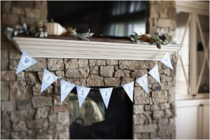 blue + yellow, banner, it's a boy, baby shower