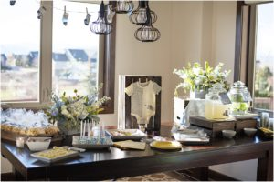 baby shower, event design, tablescape, blue, yellow
