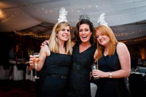 women celebrating, new year's eve, wedding, adults only wedding