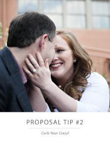 engaged couple smiling